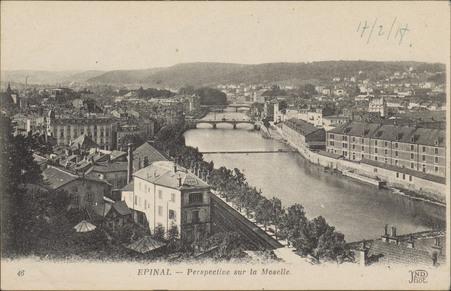 Épinal, Perspective sur la Moselle