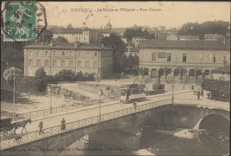 Épinal, Le Musée et l'Hôpital, Pont Carnot