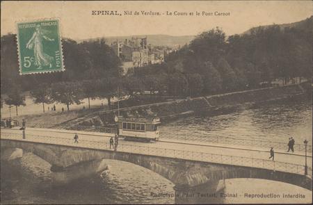 Épinal, Nid de Verdure, Le Cours et le Pont Carnot