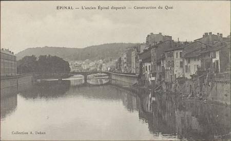 Épinal, L'ancien Épinal disparaît, Construction du Quai