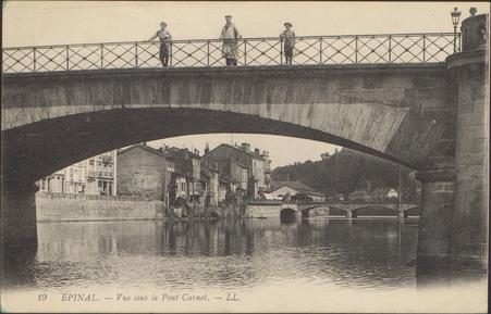 Épinal, Vue sous le Pont Carnot
