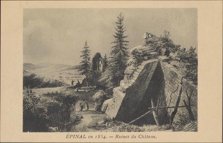 Épinal en 1834, Ruines du Château