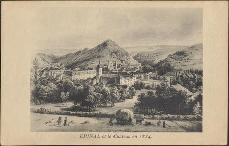 Épinal et le Château en 1834