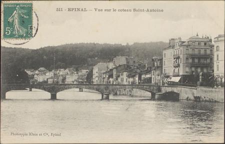 Épinal, Vue sur le côteau Saint-Antoine
