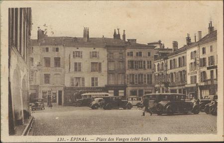 Épinal, Place des Vosges (côté Sud)