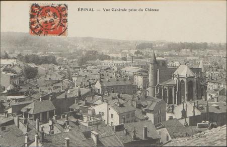 Épinal, Vue générale prise du Château