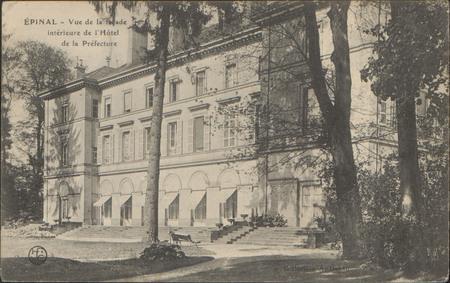 Épinal, Vue de la façade, Intérieur de l'Hôtel de la Préfecture