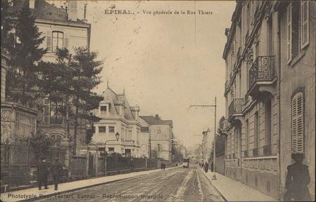 Épinal, Vue générale de la Rue Thiers