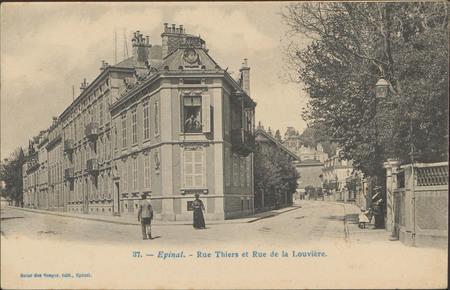 Épinal, Rue Thiers et Rue de la Louvière