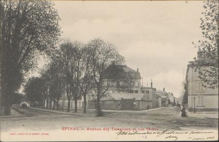 Épinal, Avenue des Templiers et rue Thiers