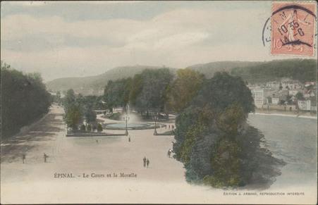 Épinal, Le Cours et la Moselle