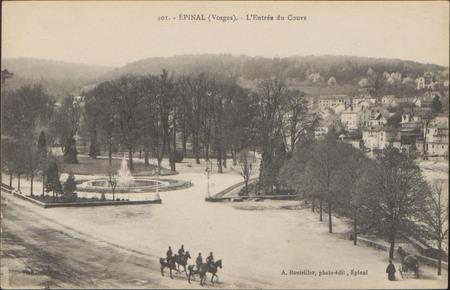 Épinal (Vosges), L'Entrée du Cours