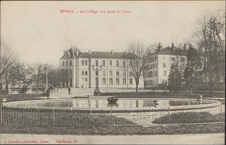 Épinal, Le Collège , vue prise du Cours