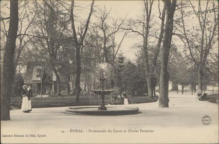Épinal, Promenade du Cours et Châlet forestier