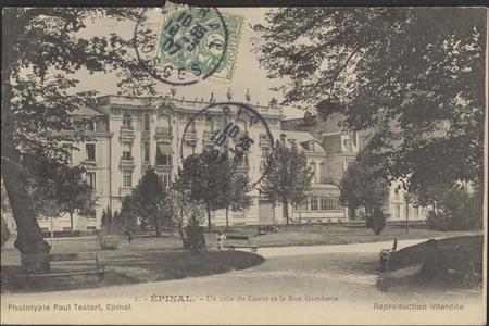 Épinal, Un coin du Cours et la Rue Gambetta