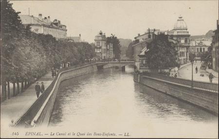 Épinal, Le Canal et le Quai des Bons-Enfants