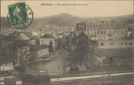 Épinal, Vue générale et Rue de la Gare