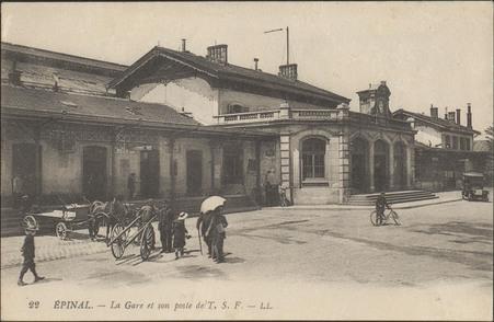 Épinal, La Gare et son poste T.S.F