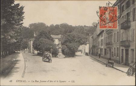 Épinal, La Rue Jeanne d'Arc et le Square