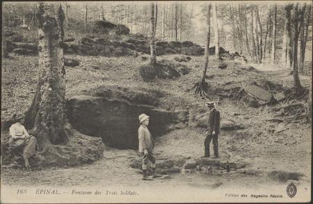 Épinal, Fontaine des Trois soldats