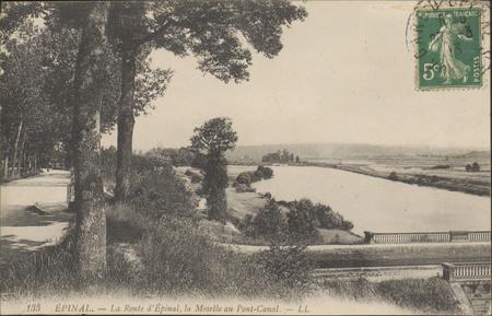 Épinal, La Route d'Épinal, la Moselle au Pont-Canal
