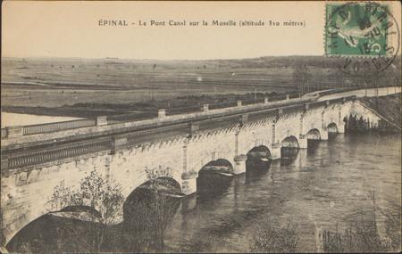 Épinal, Le Pont Canal sur la Moselle (altitude 310 mètres)