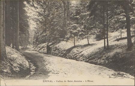 Épinal, Vallon de Saint-Antoine, L'Hiver