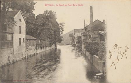 Épinal, le Canal au Pont de la Xatte