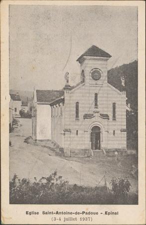 Église Saint-Antoine-de-Padoue, Épinal (3-4 juillet 1937)