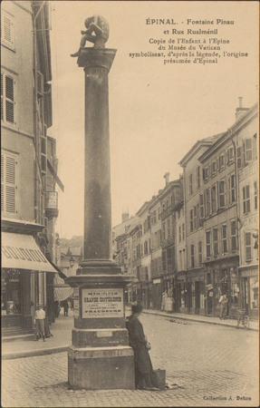 Épinal, Fontaine Pinau et Rue Rualménil […]