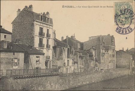 Épinal, Le Vieux Quai renaît de ses Ruines
