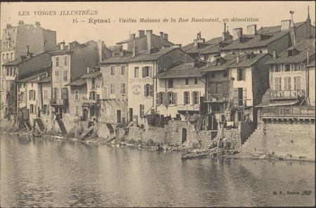 Épinal, Vieilles Maisons de la Rue Rualménil, en démolition