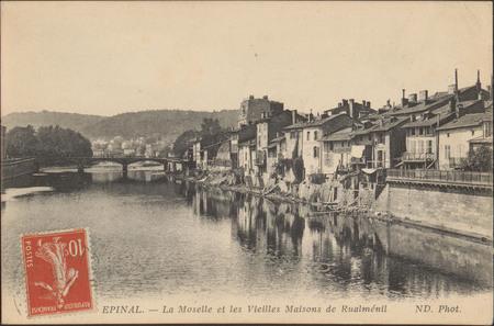 Épinal, La Moselle et les Vieilles Maison de Rualménil