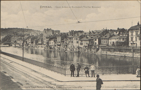 Épinal, Quais Aubert et Rualménil (Vieilles Maisons)