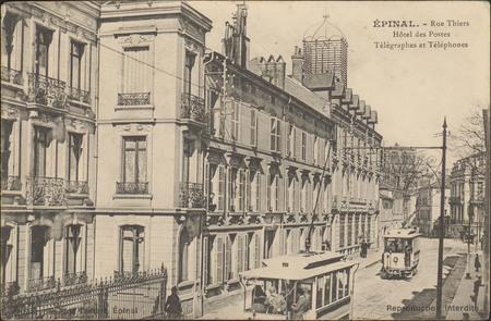 Épinal, Rue Thiers, Hôtel des Postes Télégraphes et Téléphones