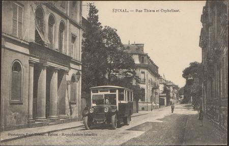 Épinal, Rue Thiers et Orphelinat
