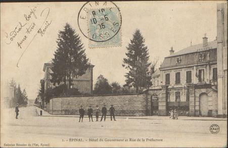 Épinal, Hôtel du Gouverneur et Rue de la Préfecture