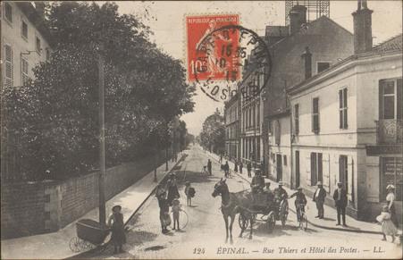 Épinal, Rue Thiers et Hôtel des Postes