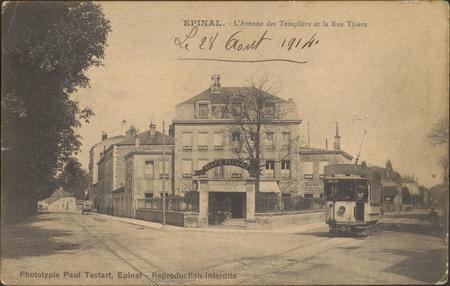 Épinal, L'Avenue des Templiers et la Rue Thiers