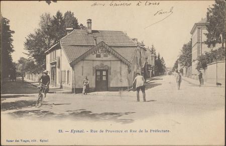 Épinal, Rue de Provence et Rue de la Préfecture