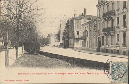 Immeuble dans lequel est établi le Garage Central du Cours, Épinal, 40 Voi…