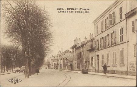 Épinal (Vosges), Avenue des Templiers