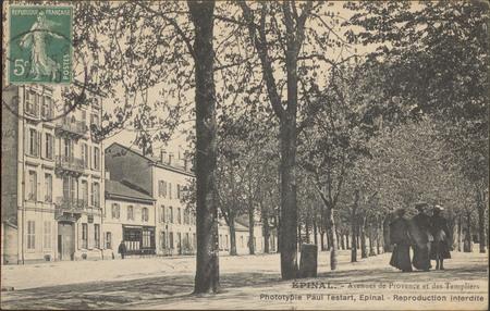 Épinal, Avenue de Provence et des Templiers