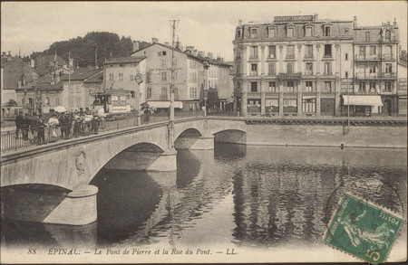 Épinal, Le Pont de Pierre et la Rue du Pont