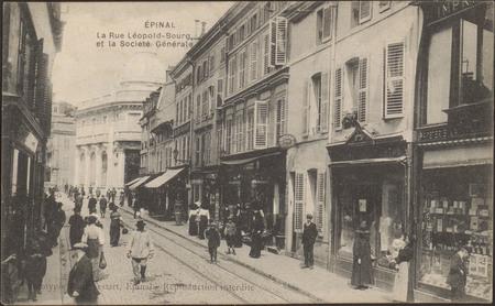 Épinal, La Rue Léopold-Bourg et la Société Générale