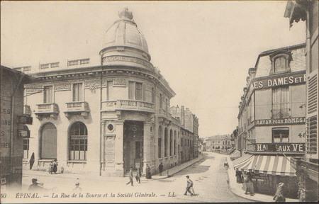 Épinal, La Rue de la Bourse et la Société Générale