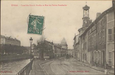 Épinal, Canal des Grands-Moulins et Rue des Petites Boucheries