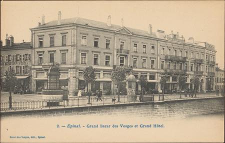 Épinal, Grand Bazar des Vosges et Grand Hôtel