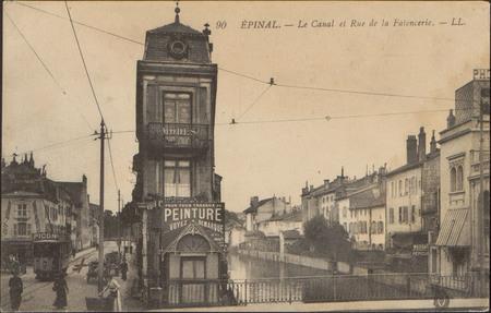 Épinal, Le Canal et Rue de la Faïencerie