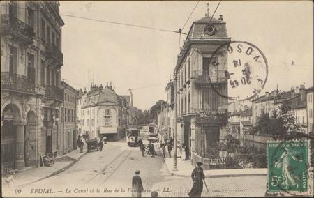 Épinal, Le Canal et la Rue de la Faïencerie